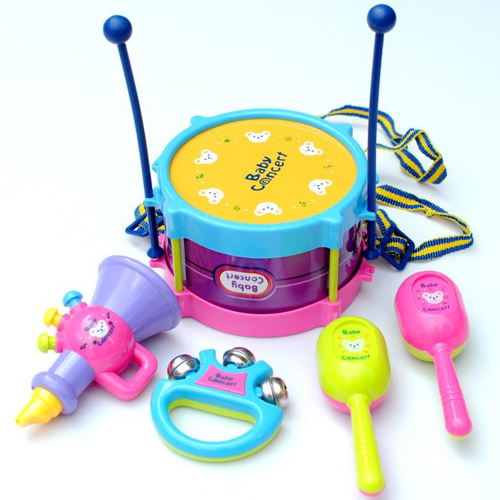 兒童樂器 益智敲打玩具 歡樂鼓 手拍鼓 五件套裝