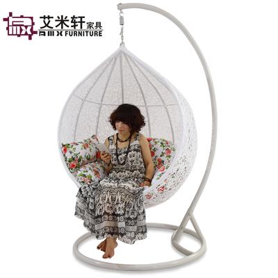 艾米轩室内外阳台仿藤吊椅手工编织秋千吊篮