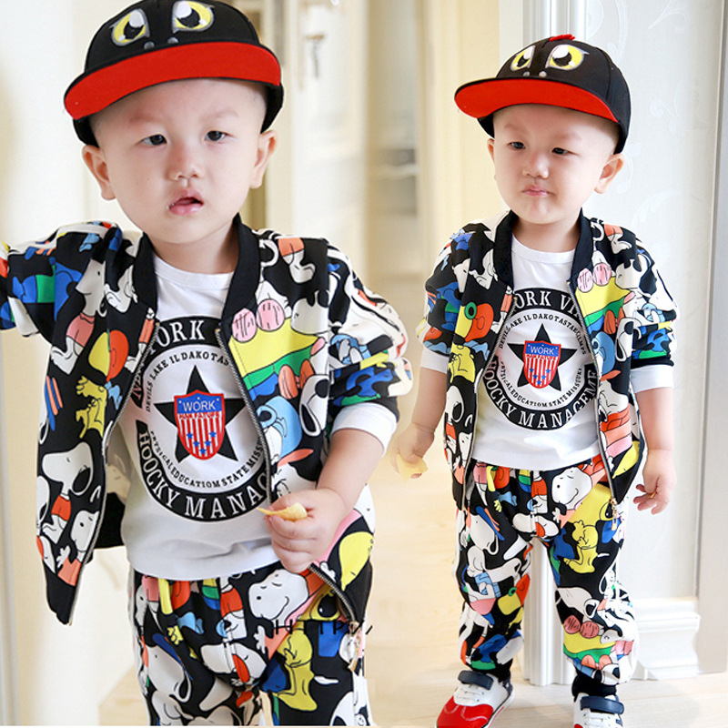 99ea99b13e50 Spring and Autumn Korean baby boy clothes autumn long sleeve T-shirt  personality suits one year old baby clothes 1-2-3 years old - BuyToMe.com - Buy  China ...