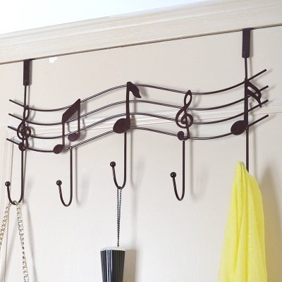 Use door clothes hangers to hang your clothes. Home DIY