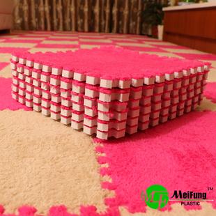 卧室满铺地毯拼接拼图地垫毛绒泡沫地垫60榻榻米垫子儿童房间毯