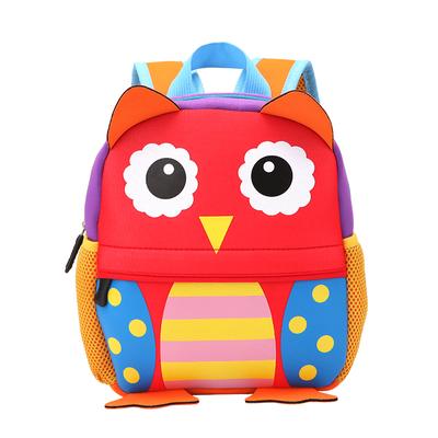 猫头鹰宝宝包包0-5岁男女童小孩卡通可爱双肩背包