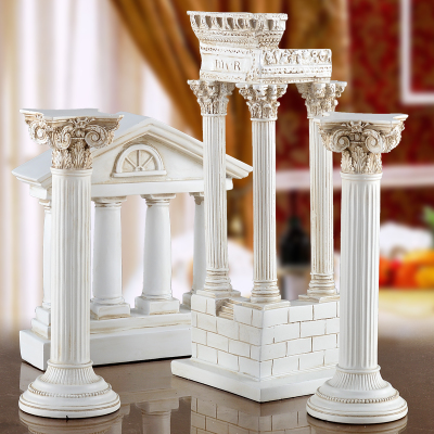 欧式经典罗马柱雕塑展示柜家居装饰品摆件送朋友新房