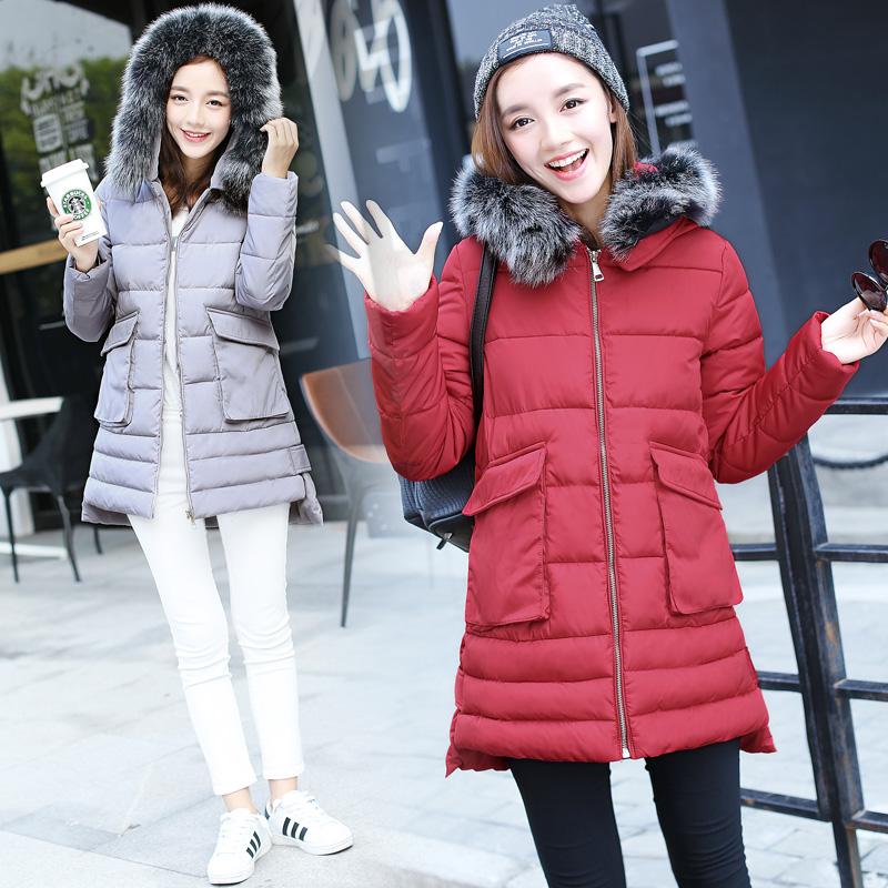 韩版冬装加厚棉衣女装2016新款棉服