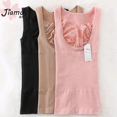 日本女士塑身衣上衣收腹束腰美体内衣秋冬托胸产后瘦身束身衣背心