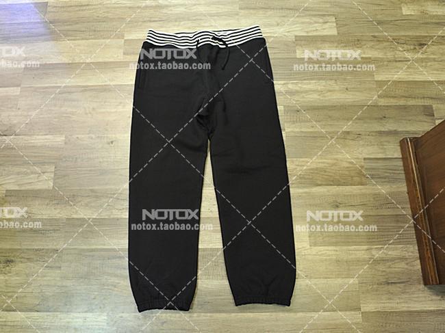[NOTOX]SUPREME 14AW Classic Logo Striped Rib Sweatpant运动裤