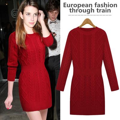 【继续狂欢热销2万 】【30天无理由退换】欧洲高端品质毛衣连衣裙