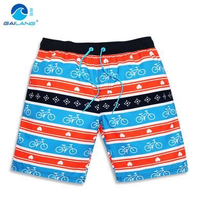盖浪 宽松沙滩裤 时尚条纹情侣裤 休闲海滩亲子沙滩裤 海边沙滩裤