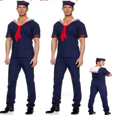 男水手服套装 红领巾海军风舞台演出服cos万圣节派对摄影服装