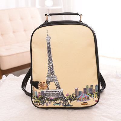 2015 new Korean female students backpack bag bag fashion handbag backpack outdoor double bag small chest tide