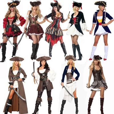 万圣节服装cosplay杰克船长女海盗衣服加勒比海盗酒吧派对舞台装