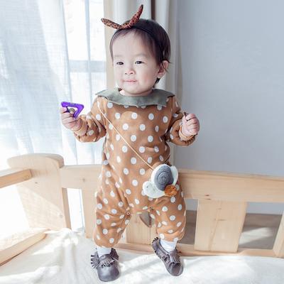 婴儿衣服宝宝冬装婴幼儿连体衣秋冬01岁新生儿爬服婴儿冬季哈衣