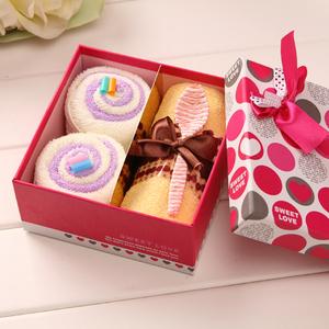 Creative Cotton Cake Towel Gift Set Wedding wedding gift birthday gift Baby Kindergarten