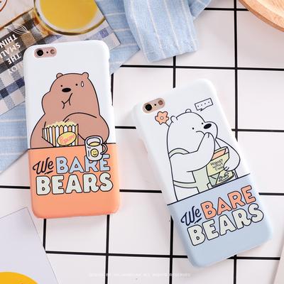 卡通6s可爱吃货裸熊