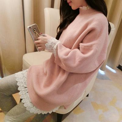 孕妇装2015秋冬新款上衣宽松孕妇毛衣外套连衣裙套头针织衫打底衫