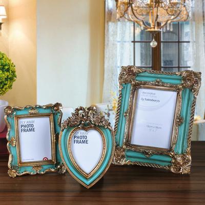 欧式5寸7寸雕花相框桌面摆件美式家居装饰品摆设复古