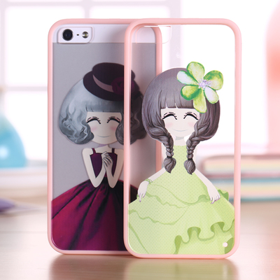 IPhone5s mobile phone shell apple 5S protect the new transparent soft iPhone5 4S shell