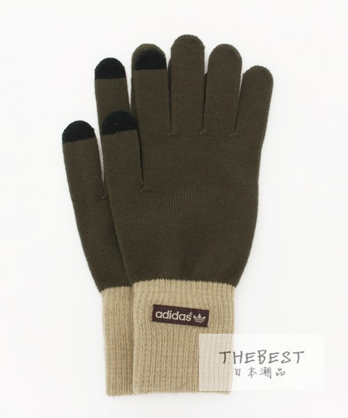 日本代购 adidas originals GLOVES SMART PHONE两色入 手套 15AW