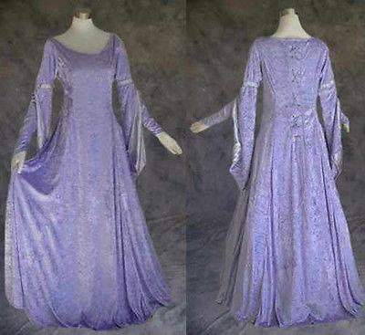 欧式宫廷礼服 高贵优雅紫灰色连体长裙图片