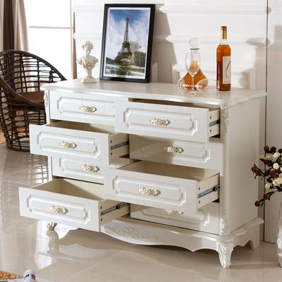 欧式五斗柜橱卧室简约白实木法式5抽屉柜储物橱斗柜