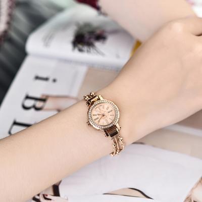 [阿里年货节] 正品聚利时手表女学生韩版简约女生手链表水钻时装潮流钢带石英表