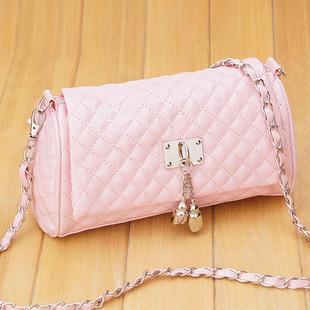 【包邮】包包女包2013时尚新款经典菱格链条女士包单肩包斜挎小包