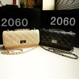 【包邮】小包包2013新款潮新品女包单肩斜跨小包菱格链条包时尚韩版小香包