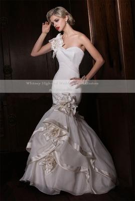 鱼尾婚纱显瘦欧式玫瑰