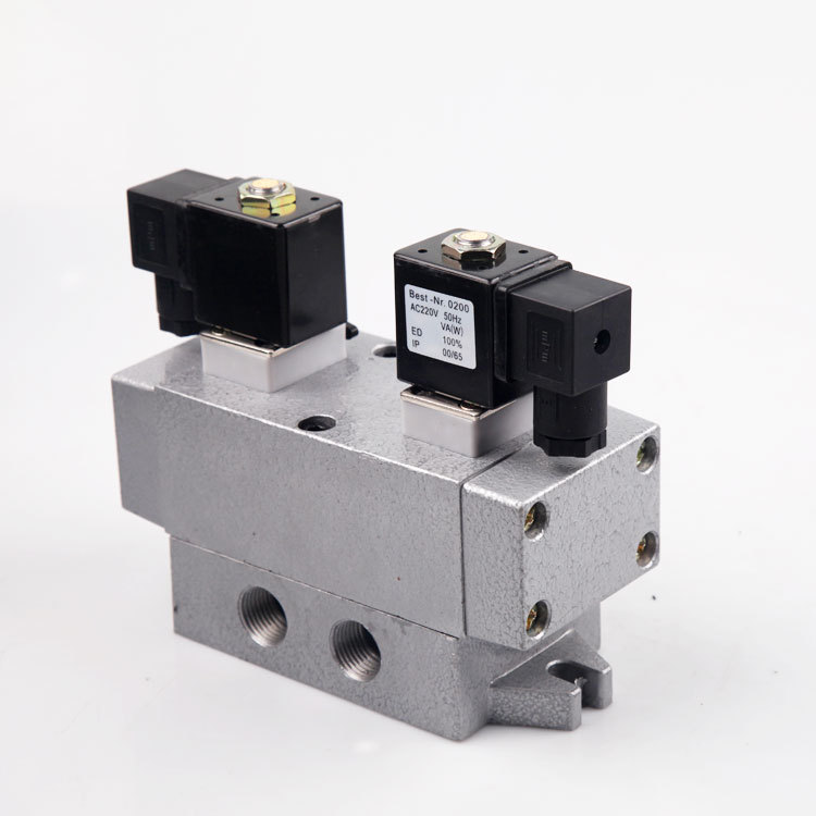 två fem magnetventil K25D2H-15K25D2H-6810253240 dubbla elektriska ventiler