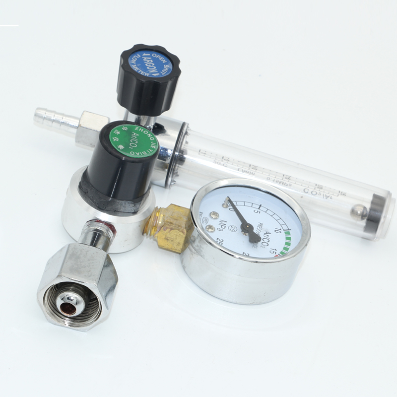 Argon pressure reducing valve, pressure gauge, air pressure bellows, gas source, carbon dioxide band and argon pressure reducing valve