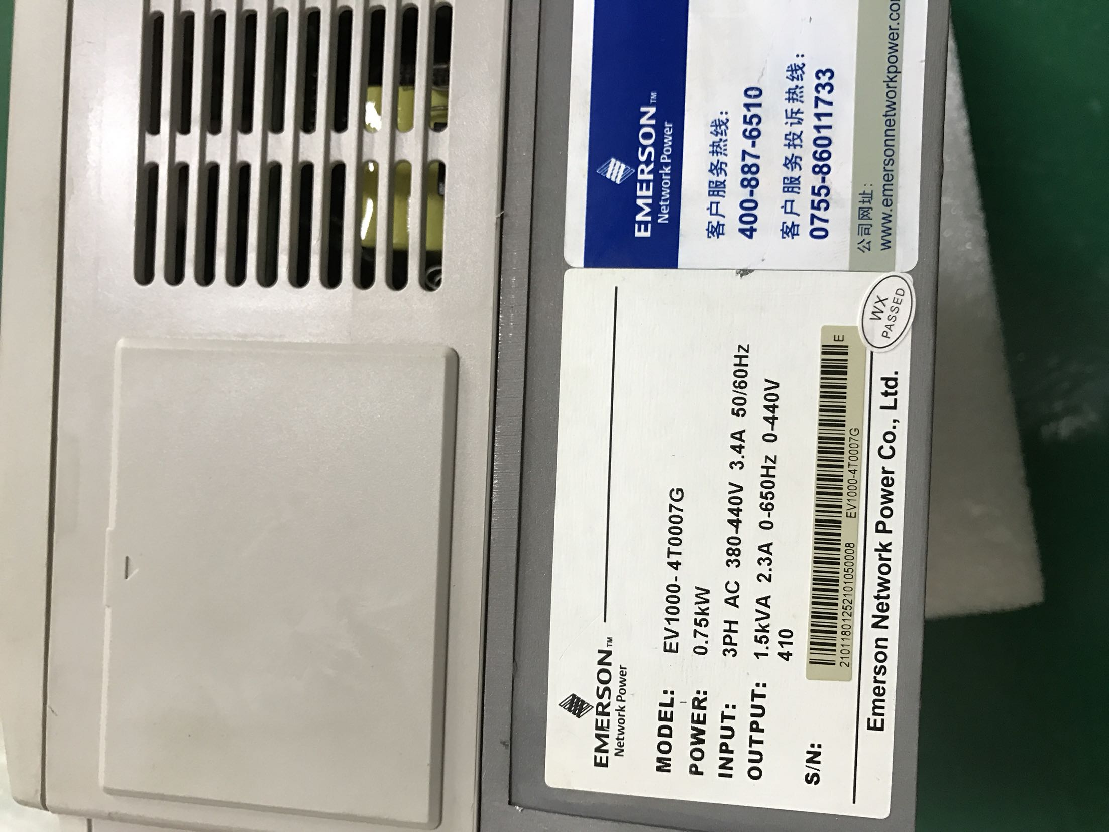 emerson inverter EV1000-4T007G fortegnelse