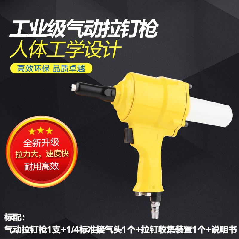Taiwán neumáticos solo sacó las uñas de mano la pistola remachadora neumática de remaches dos garras de un remache