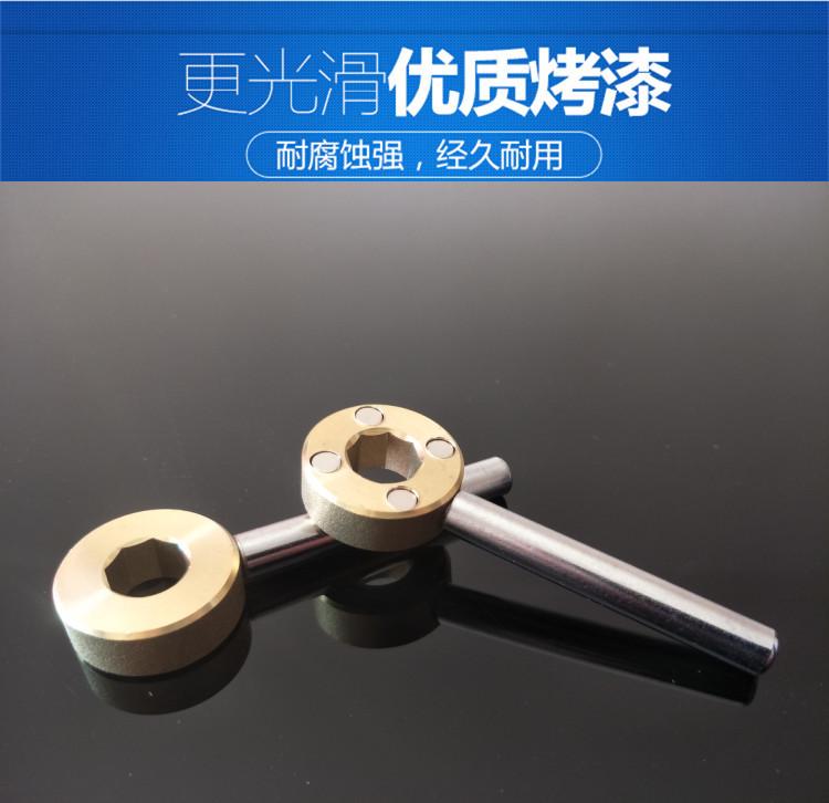 osmerokotni magnetne ključavnice ventil ključ, ključ je ventil za ogrevanje vode iz pipe ključev torbo odprl ventil stikalo.