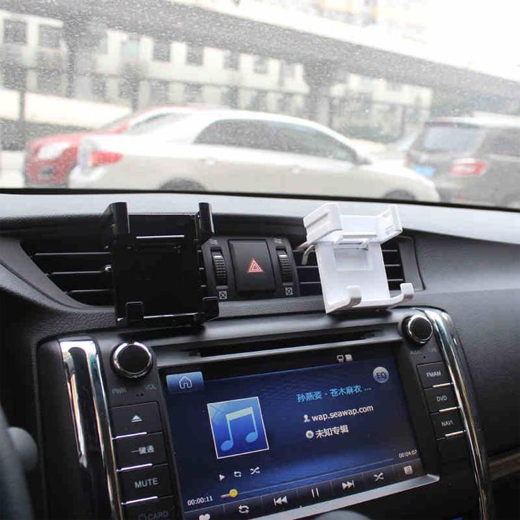 Support de téléphone mobile avec un support dans un véhicule de l'évent de conditionnement d'air d'automobile navigation de téléphone fixe placé à l'exportation
