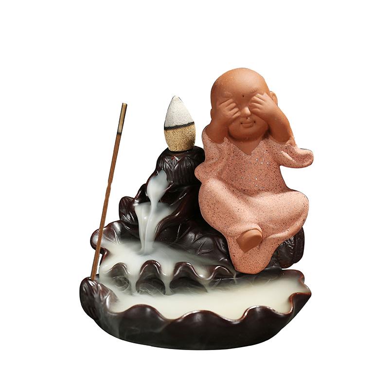 на новый аромат сандалового дерева назад кадило бытовой печи печи керамики творческих маленький монах чай питомца Садо украшения спальни линия
