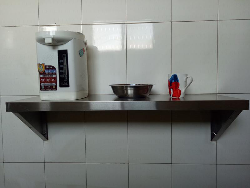 Soporte de pared a pared de acero inoxidable para colgar de las paredes de la cocina de microondas Crane estantes rack una monocapa.