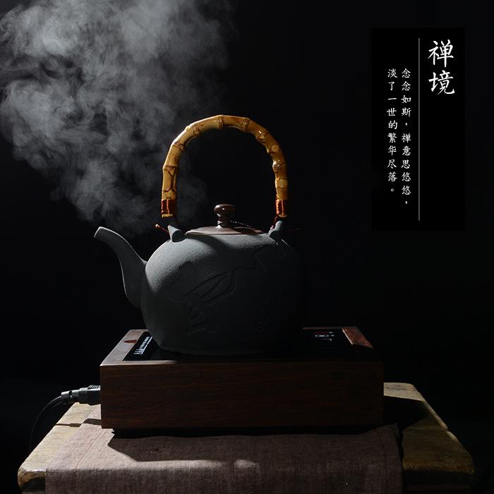 De nuevo la tetera de té el té de kung fu en la inducción de la cocina de la tetera tetera eléctrica solo ollas de jarra eléctrica
