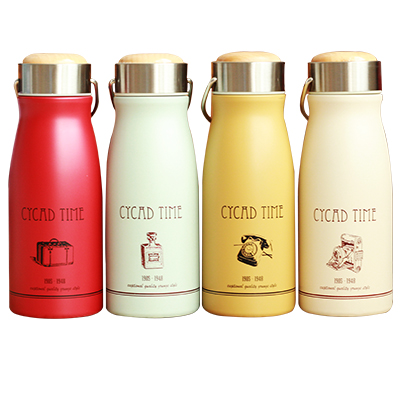 Retro frosted cup, vacuum stainless steel portable thermos bottle for creative students, male and female Shimizu Ko