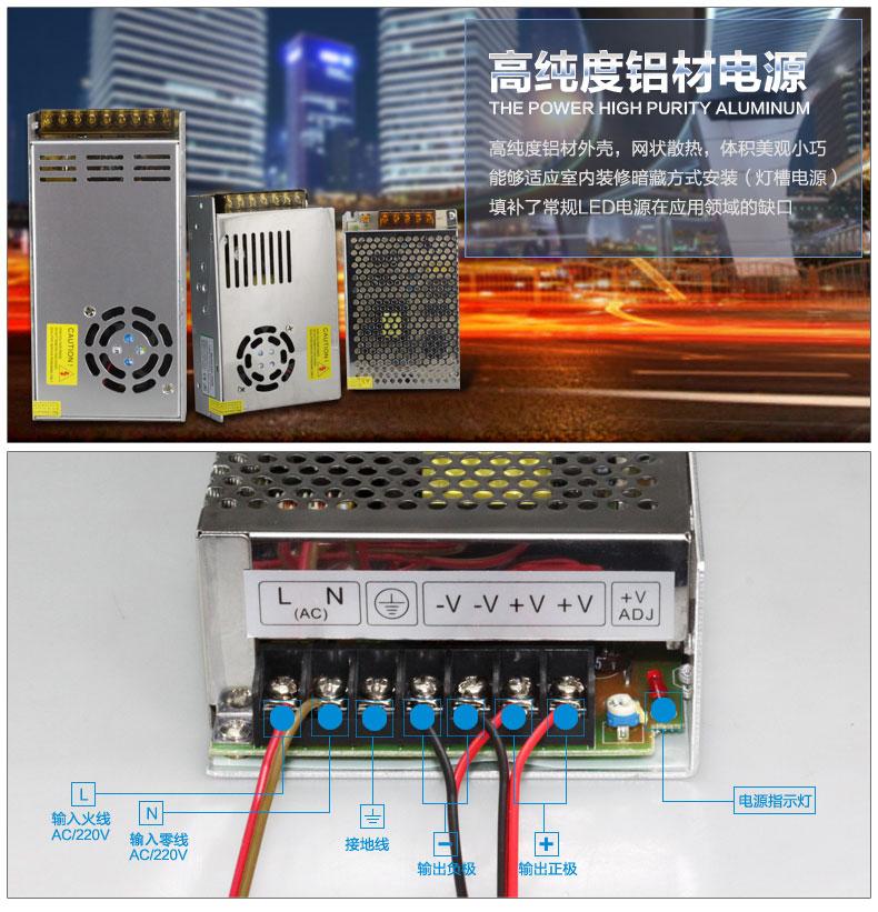 New LED lamp 220V to 12v/24V power switch adapter / lamp belt drive power supply ballast / transformer