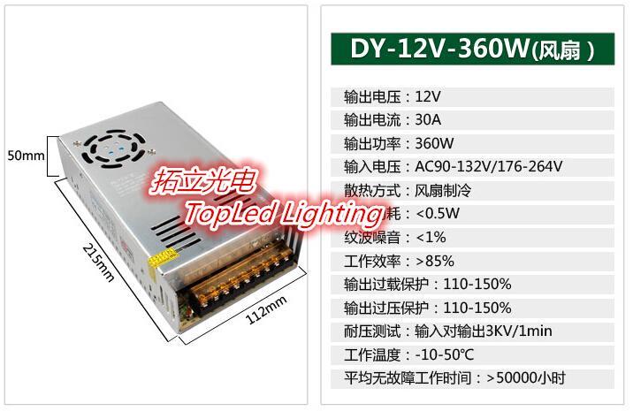 New LED lamp switch power supply, 12V monitoring drive transformer fitting ballast, 220V to 12V converter