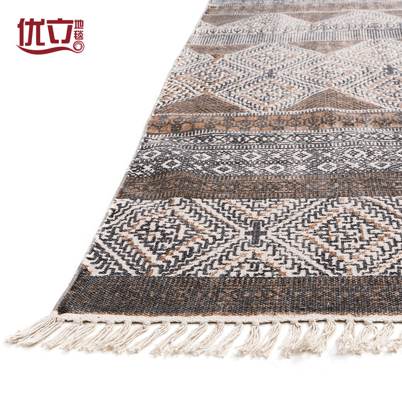 a kézi szövésű szőnyeget egy indiából származó pamut szőnyeg modern amerikai country minimalista nappali asztalt takaró