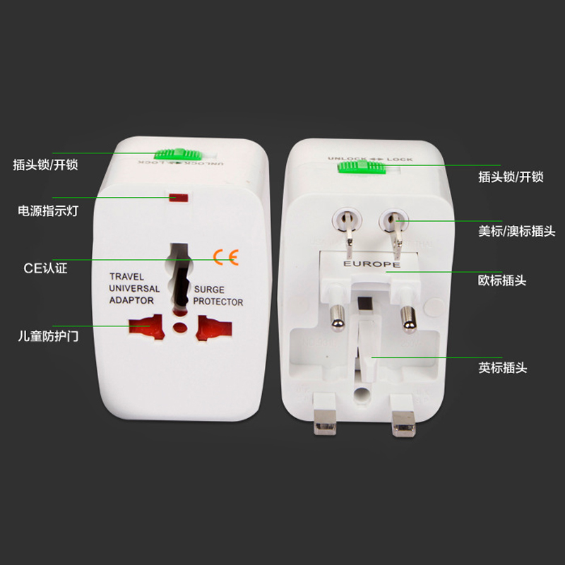 Een transformator in het buitenland aan de Verenigde Staten en Japan met 220 110 tervicies van elektrische toerisme de stekker in het stopcontact.