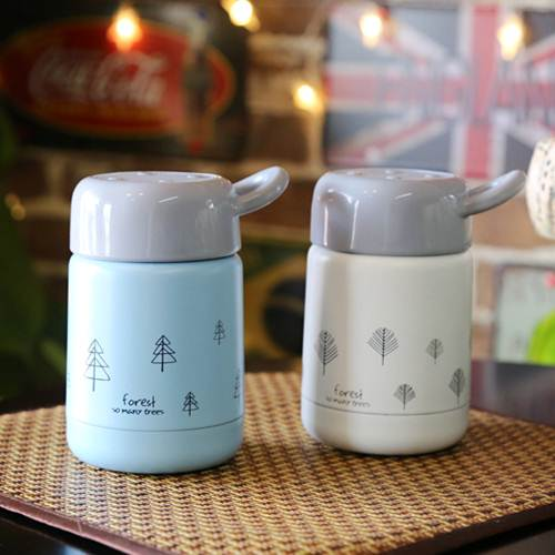Stainless steel thermos cup, lovers' Cup, portable ladies' teacup, lovely children's vacuum cup