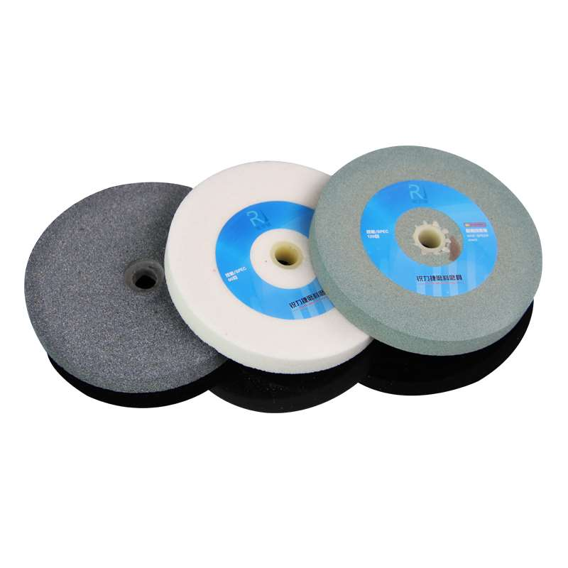 White corundum grinding wheel green silicon carbide sand wheel slice 150*16*12.7 for grinding high speed steel hard alloy