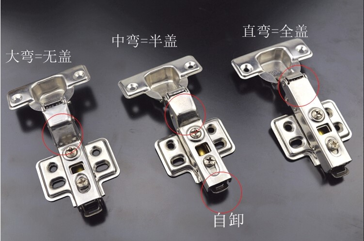 Damping stainless steel hinge buffer / hydraulic spring cabinet door, aircraft pipe furniture hinge bending 304