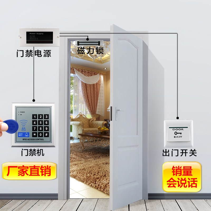 The new electronic entrance guard system includes credit card, glass door, iron door, magnetic lock, electric lock and double door