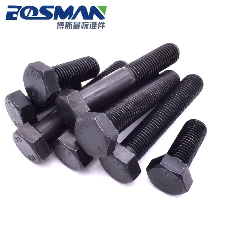 All tooth outer six angle screw, 8.8 class high strength full thread bolt, carbon steel bolt M12-200M14-250
