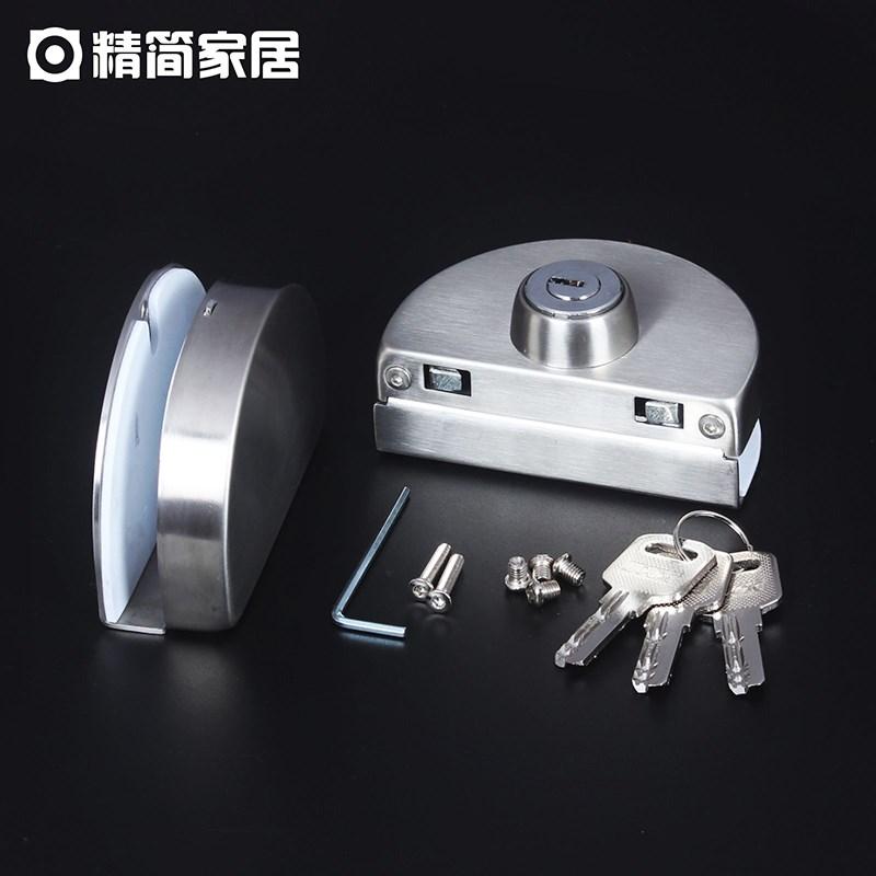 ruostumattomasta teräksestä valmistettujen karkaistua oveen kaksiovinen vapaa - aukko on liukuovi liukuovi kaupat lukkoon frameless lukko -