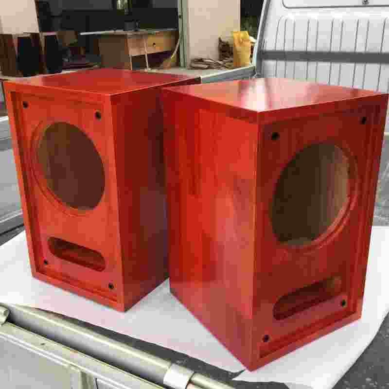 6,5 cm de 8 cm de haut - parleur pleine fréquence labyrinthe vides en bois massif