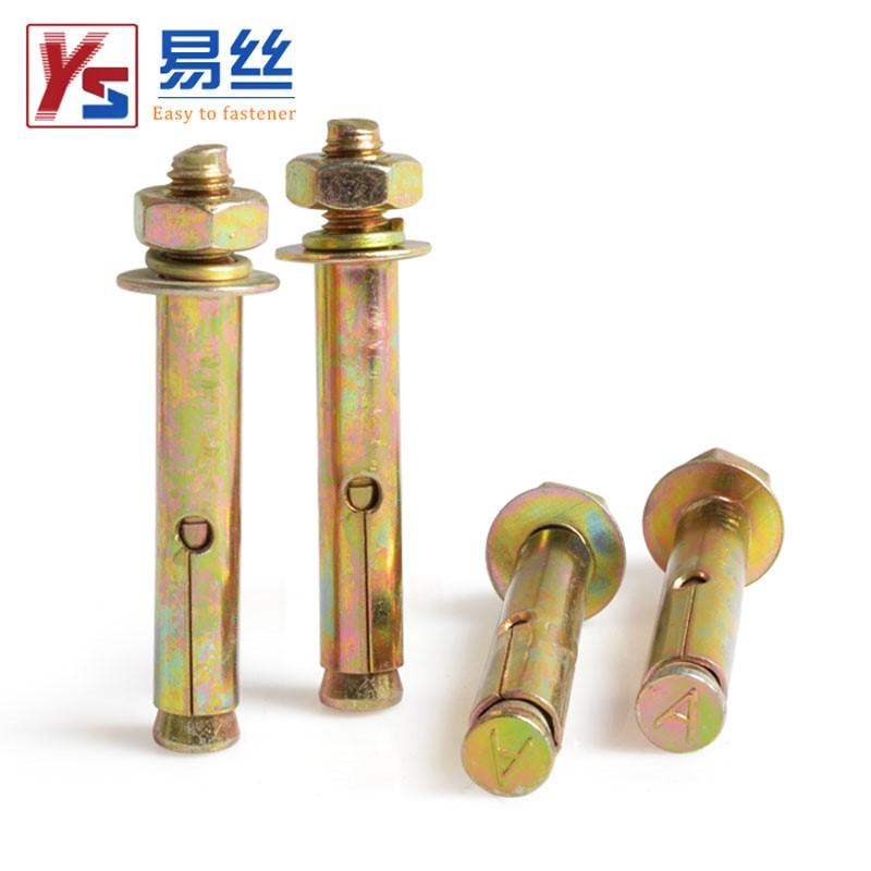 Color coated zinc expansion screw 8mm expansion bolt M10 lengthened pull explosion screw M6 explosion screw M12M14M16